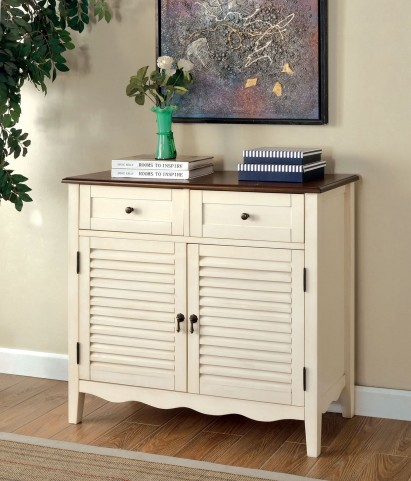 Oleida Cherry and Vintage White 2 Door Cabinet