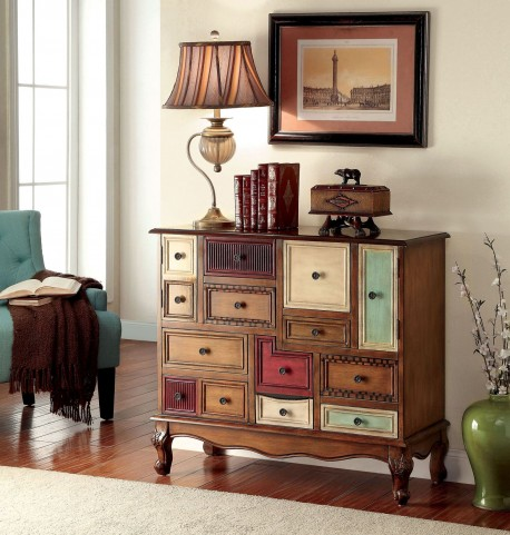 Desree Antique Walnut Colorful Chest