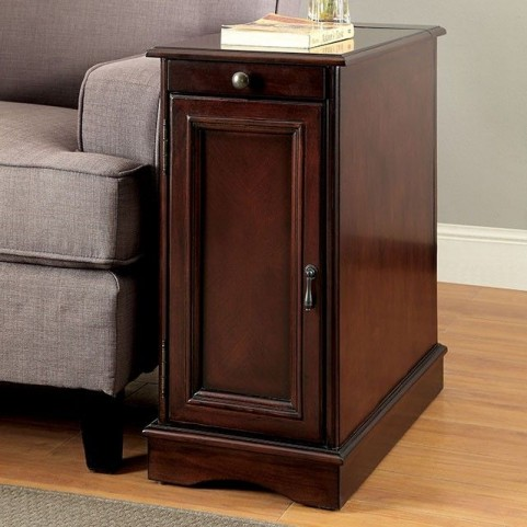 Lilith I Cherry Side Table With USB