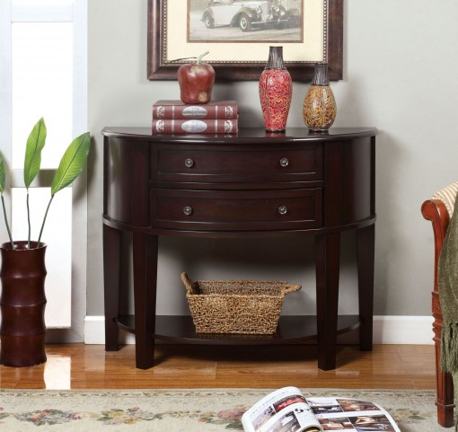Chanti Espresso 2 Drawer Side Table