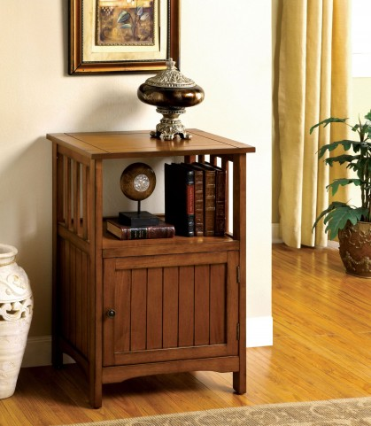 Sanca I Antique Oak Single Door Telephone Stand