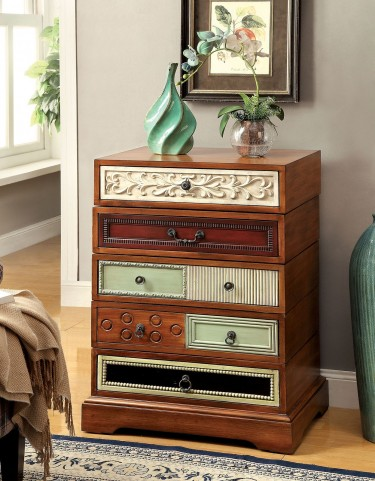 Lavine Brown Swivel Hallway Cabinet