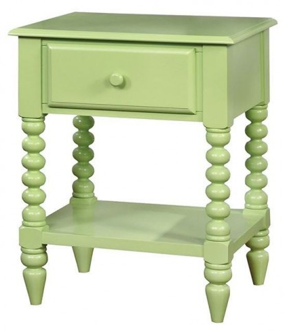Lindsey Apple Green Nightstand