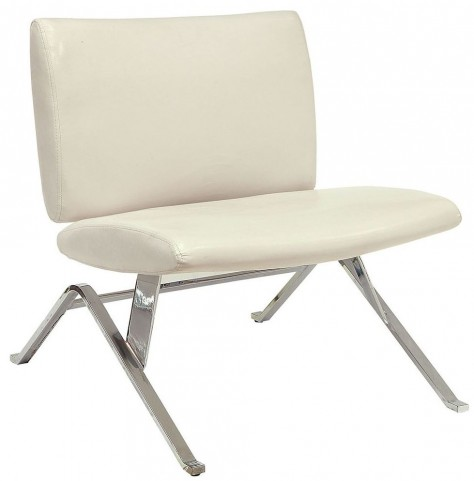 Shana White Accent Chair