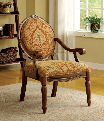 Hammond Antique Oak Fabric Accent Chair