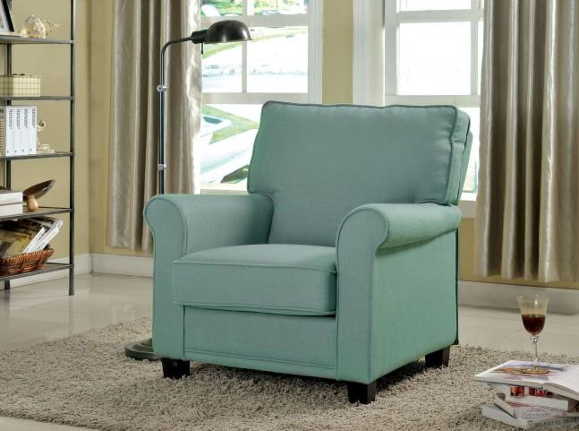Belem Blue Flax Fabric Chair