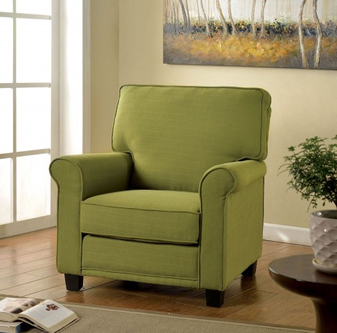 Belem Green Flax Fabric Chair