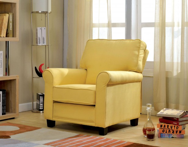 Belem Yellow Flax Fabric Chair