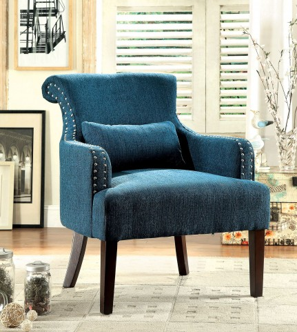 Agalva Teal Accent Chair