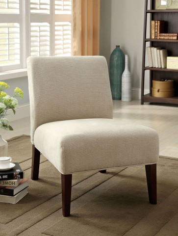 Springerville White Fabric Accent Chair