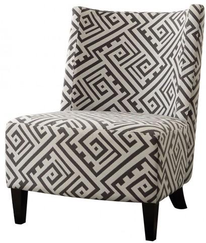 Margaux Maze Print Accent Chair