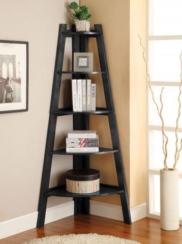 Lyss Black Ladder Shelf