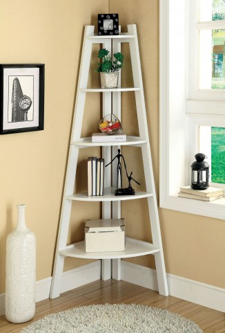 Lyss White Ladder Shelf