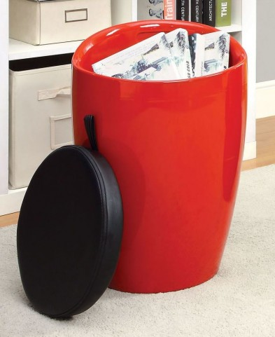 Rolla Red Stool