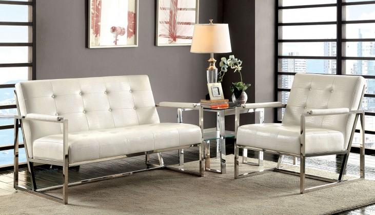 Sienna White Living Room Set