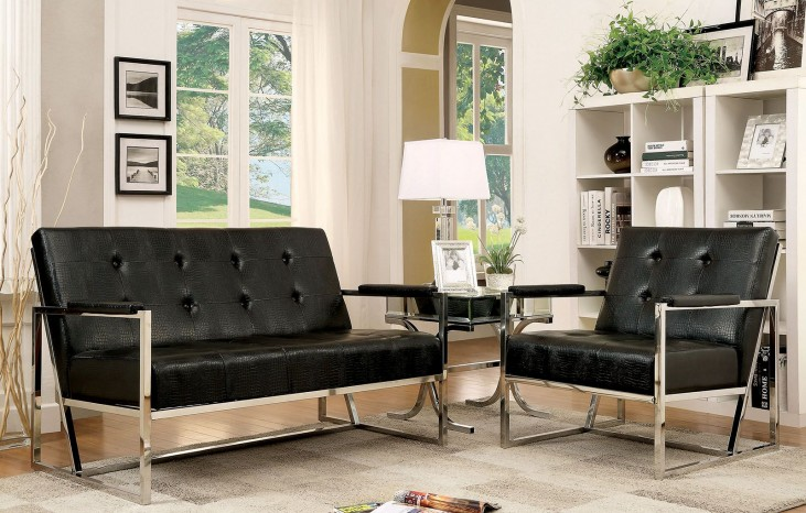 Sienna Black Living Room Set