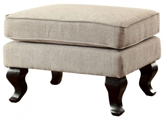 Willow Beige Accent Ottoman