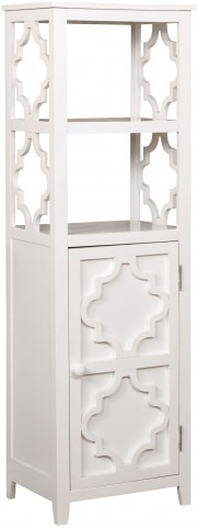 Evelin White Display Cabinet