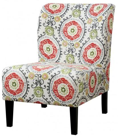 Prue Orange Aboriginal Pattern Accent Chair