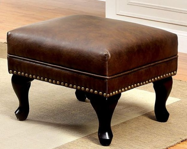 Vaugh Rustic Brown Ottoman