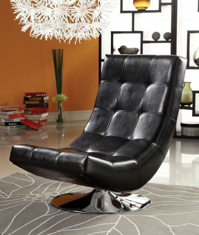 Trinidad Black Swivel Accent Chair