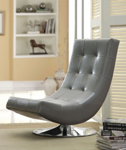 Trinidad Gray Swivel Accent Chair