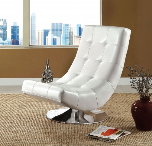 Trinidad White Swivel Accent Chair