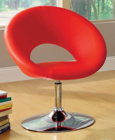 Faliro Red Swivel Accent Chair