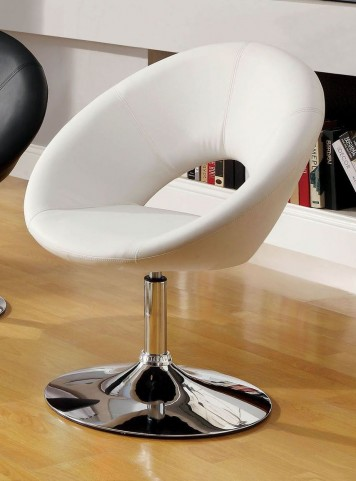 Faliro White Swivel Accent Chair