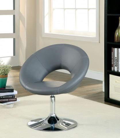 Faliro Gray Swivel Accent Chair