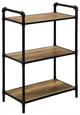 Olga I Antique Black Small Display Shelf