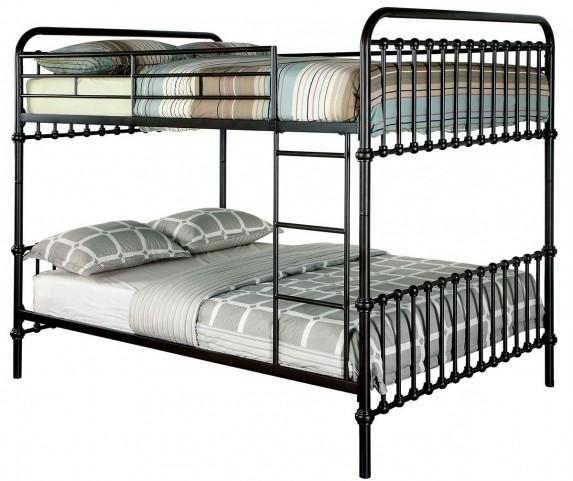 Oria Dark Bronze Full Over Full Metal Bed