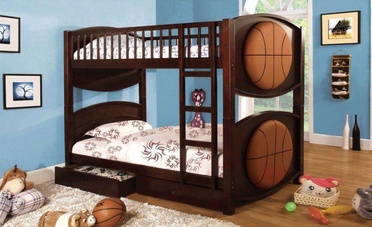 Olympic II Basketball  Twin Over Twin Bunk Bed