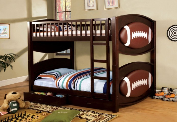 Olympic II Football Twin Over Twin Bunk Bed