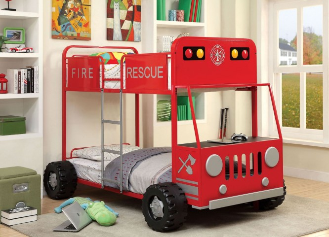 Rescuer II Metal Twin Over Twin Bunk Bed