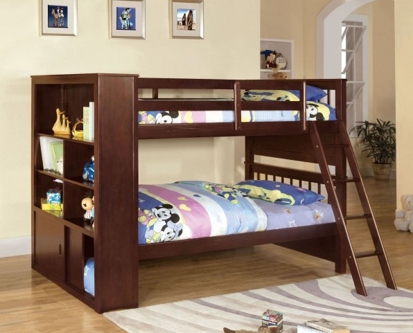 Hayden Twin Over Twin Bookcase Bunk Bed
