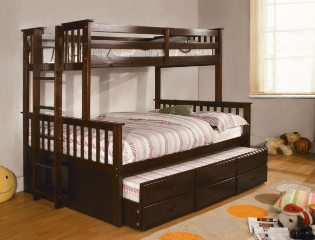 University I Espresso Twin Over Full Bunk Bed