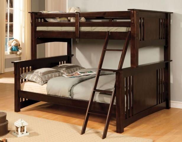 Spring Creek Dark Walnut Twin Over Full Bunk Bed