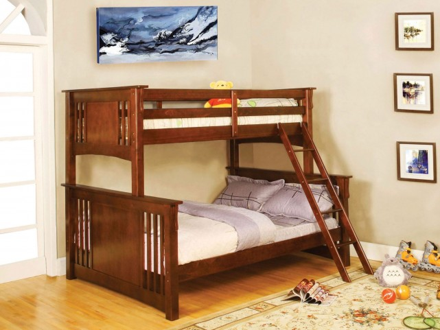 Spring Creek Oak Twin Over Full Bunk Bed