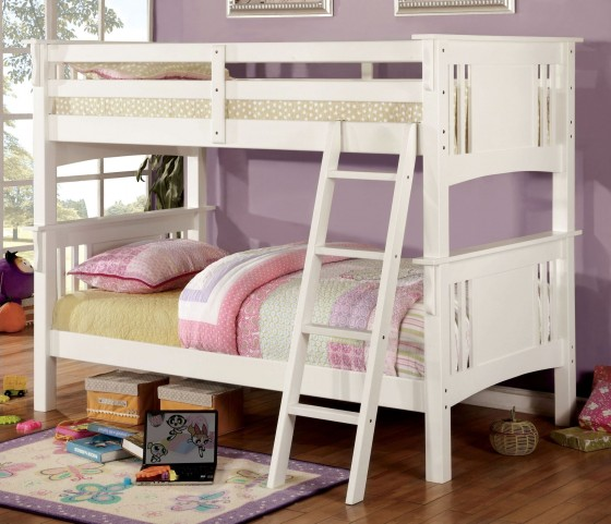 Spring Creek White Twin Over Twin Bunk Bed