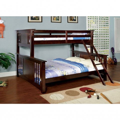 Spring Creek Dark Walnut Extra Large Twin Over Queen Bunk Bed