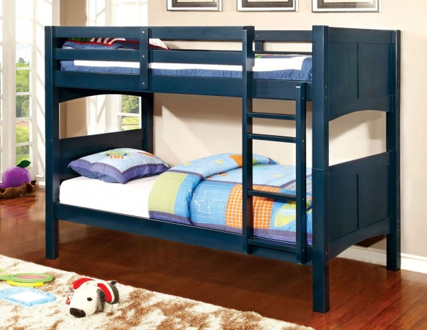Prismo II BlueTwin Over Twin Bunk Bed