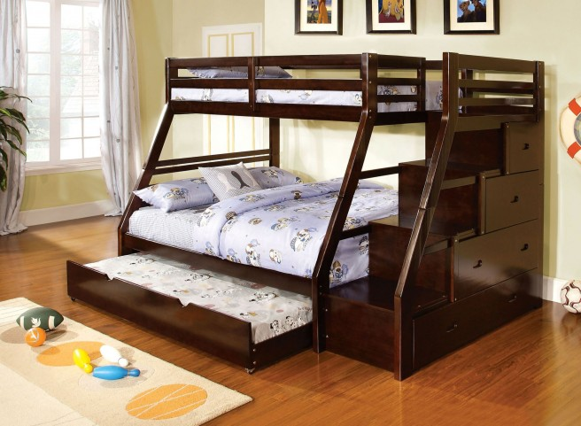 Ellington Dark Walnut Twin Over Full Bunk Bed