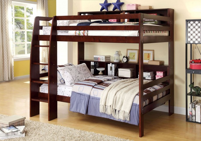 Camino Dark Walnut Twin Over Twin Bunk Bed