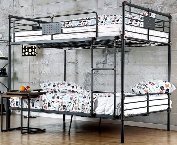 Olga I Antique Black Full Over Full Bunk Bed