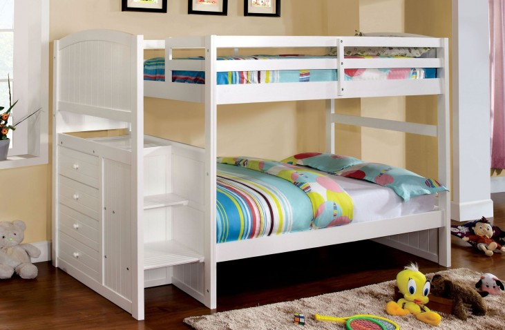 Appenzell White Twin Over Twin Bunk Bed