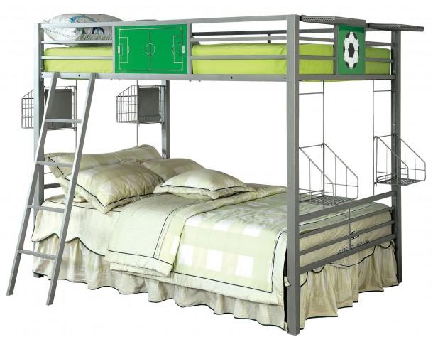 Athlete Dark Gray Metal Full Over Full Bunk Bed