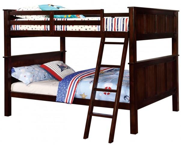 Gracie Dark Walnut Full Over Full Bunk Bed
