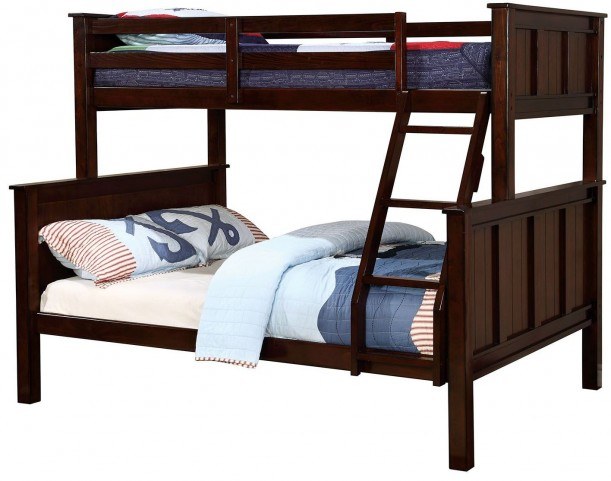 Gracie Dark Walnut Twin Over Full Bunk Bed