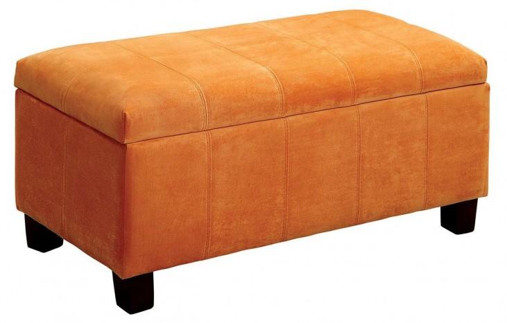 Remi Orange Ottoman